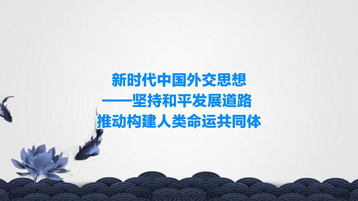 新时代中国外交思想 坚持和平发展道路  推动构建人类命运共同体
